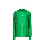 Cecilie Copenhagen Cecilie Copenhagen Amalie  blouse met buttons down groen