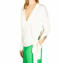 Erika Cavallini Erika Cavallini v-neck sweater with button detail white