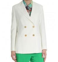 Erika Cavallini double-breasted blazer white