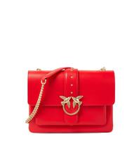 Pinko Love Simple crossbody tas rood