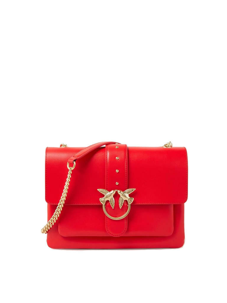 PINKO Pinko Love Simple crossbody tas rood
