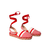 Also Jamie Oasis Espadrilles mit Schnürsenkeln rot weiß