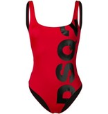 Dsquared2 Dsquared2 badpak met logo rood zwart