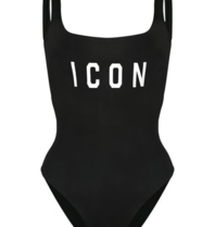 Dsquared2 Dsquared2 'Icon' swimsuit black with white
