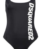 Dsquared2 Badeanzug mit Logo schwarz