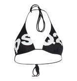 Dsquared2 triangle bikini top met logo zwart