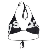 Dsquared2 triangle bikini top with logo black
