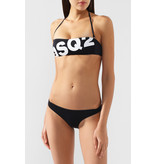 Dsquared2 Bandeau bikini top met logo zwart