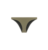 Dsquared2 Bikini slip met logo op achterkant legergroen