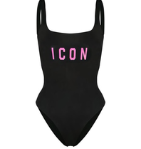 Dsquared2 Dsquared2 'Icon' badpak zwart met roze