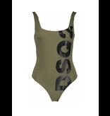 Dsquared2 badpak met logo zwart legergroen