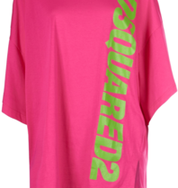 Dsquared2 short kaftan with text pink