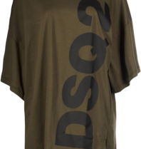 Dsquared2 short kaftan with text green