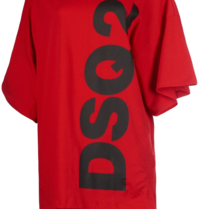 Dsquared2 short kaftan with text red