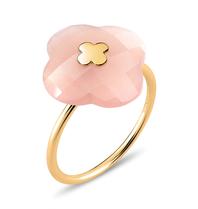 Morganne Bello Ring yellow gold Moonstone Peach stone