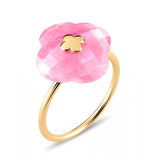 Morganne Bello Morganne Bello Ring yellow gold Rhodochrosit stone