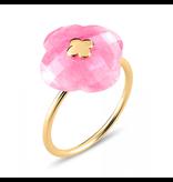 Morganne Bello Ring geelgoud Rhodochrosit steen