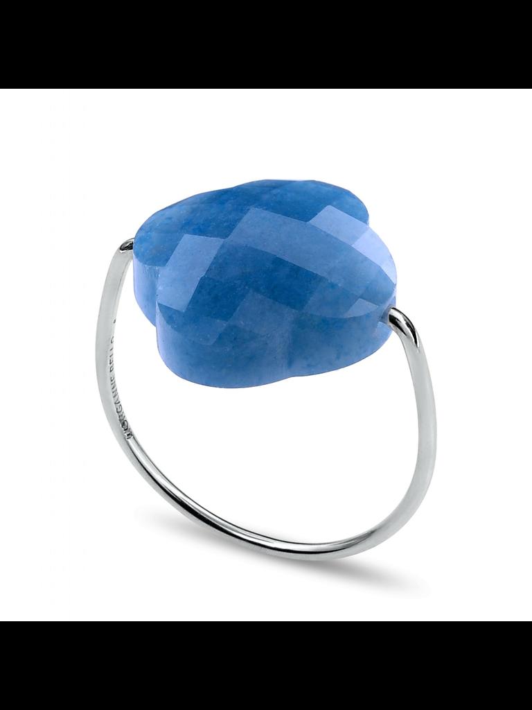 Morganne Bello Morganne Bello ring kwarts blauw