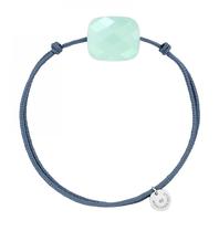 Morganne Bello Morganne Bello cord bracelet with Chrysoprase mint cushion stone