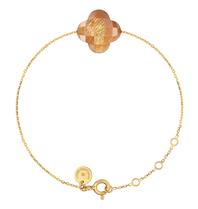 Morganne Bello Morganne Bello gold bracelet with sunstone stone
