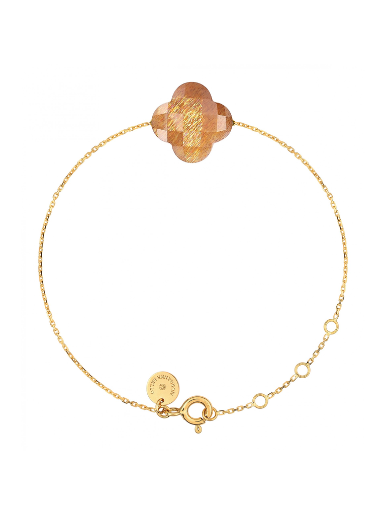 Morganne Bello Morganne Bello gouden armband met sunstone steen