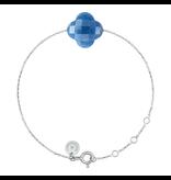 Morganne Bello Morganne Bello witgouden armband met blauwe kwarts