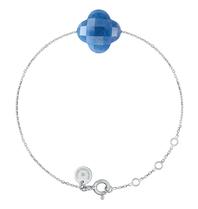 Morganne Bello Morganne Bello white gold bracelet with blue quartz