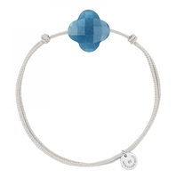 Morganne Bello Morganne Bello cord bracelet with blue quartz clover stone