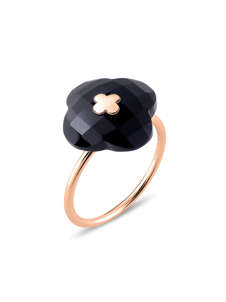 Morganne Bello Ring rosegoud Onyx steen