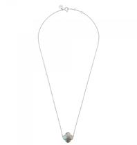 Morganne Bello Morganne Bello necklace with labradorite stone white gold