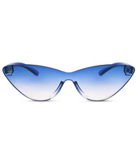 LA Sisters Cat-Eye Sonnenbrille blau
