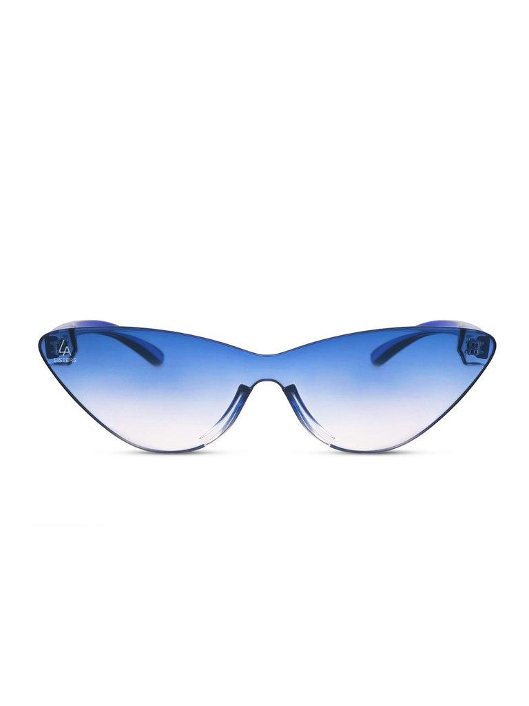 LA Sisters Cat-eye zonnebril blauw