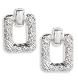 8 Other Reasons x Jill Jacobs Quinn hoops earrings silver