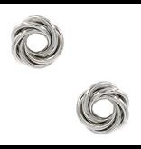 8 Other Reasons x Jill Jacobs twisted oorbellen zilver