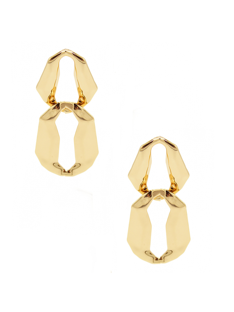 8 Other Reason 8 Other Reasons x Jill Jacobs Lara dusters earrings gold