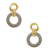 8 Other Reasons x Jill Jacobs triple hoops earrings blue gold