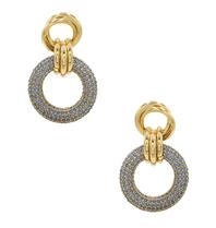 8 Other Reasons x Jill Jacobs triple hoops oorbellen blauw goud