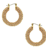 8 Other Reasons x Jill Jacobs rhinestone earrings gold