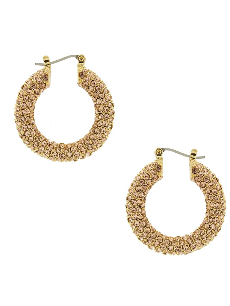8 Other Reason 8 Other Reasons x Jill Jacobs rhinestone earrings gold