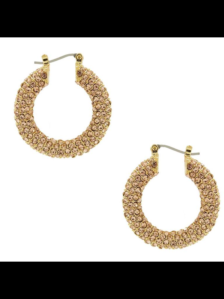 8 Other Reasons x Jill Jacobs rhinestone earrings gold