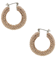 8 Other Reasons x Jill Jacobs rhinestone champagne earrings
