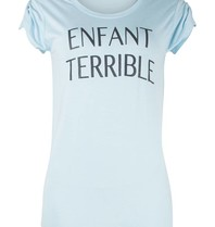 VLVT VLVT Enfant terrible t-shirt lichtblauw