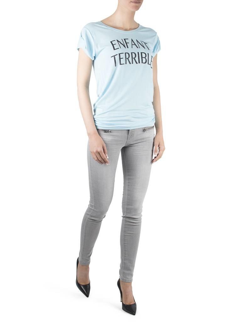 VLVT VLVT Enfant terrible t-shirt lichtblauw