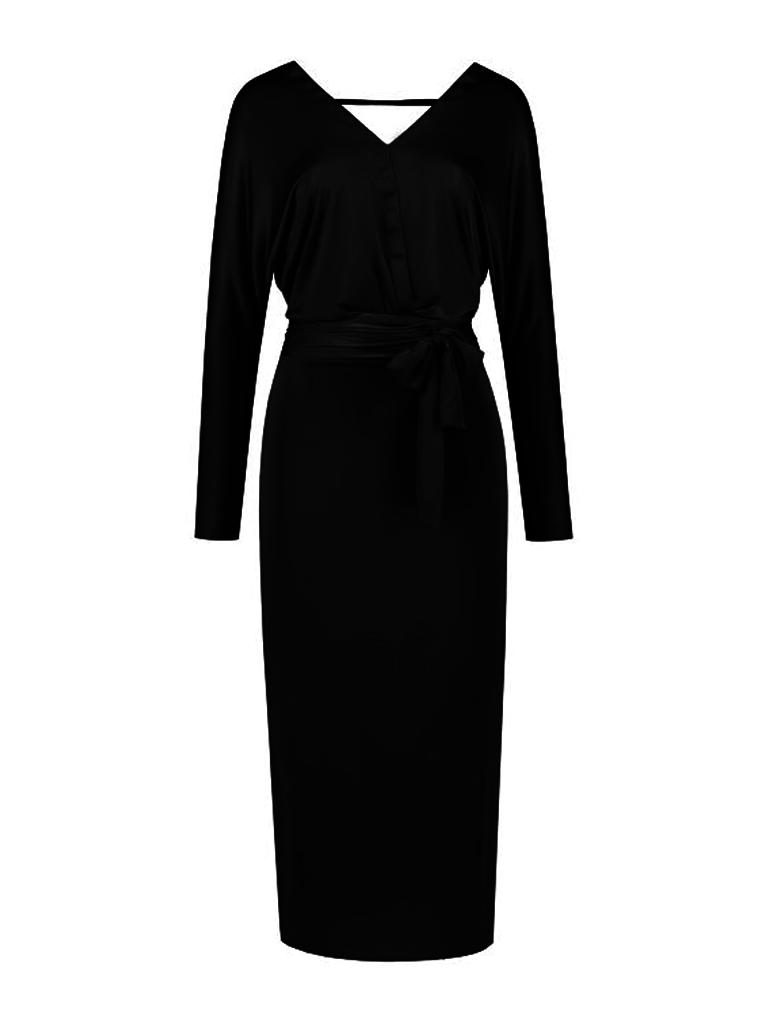 Acide Alexis midi dress with black belt
