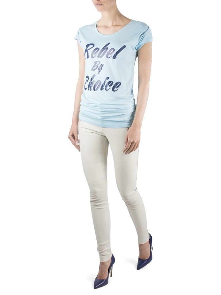 VLVT VLVT Rebel by choice t-shirt lichtblauw