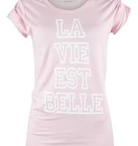 VLVT VLVT La vie est belle T-Shirt rosa