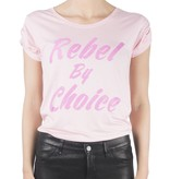 VLVT VLVT Rebel by choice t-shirt roze