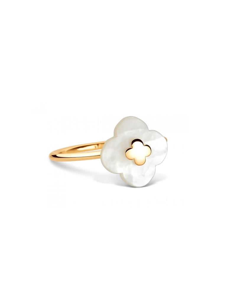 Morganne Bello Ring mit Mini-Perlmuttstein Gelbgold