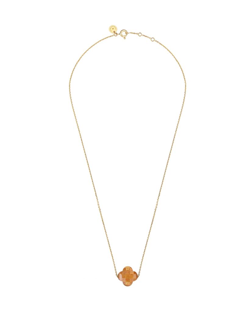 Morganne Bello Morganne Bello necklace with sunstone stone yellow gold