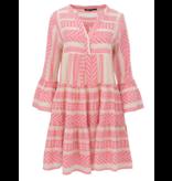 Devotion Devotion Zakar jurk met print en volant roze wit